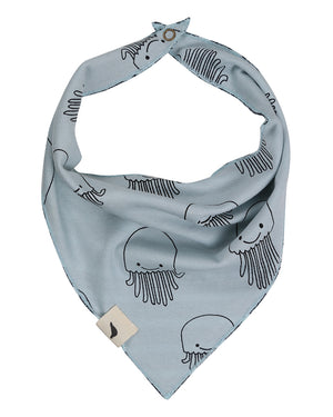 Load image into Gallery viewer, Jellyfish / Stripe Reversible Bib