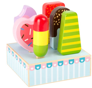 Set Of Wooden Ice Lollies