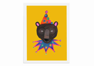 Load image into Gallery viewer, Magical Party Bear A3 Print