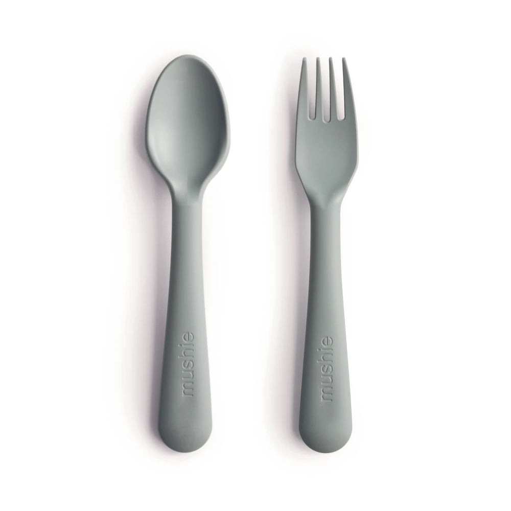 Fork and Spoon Set-Sage