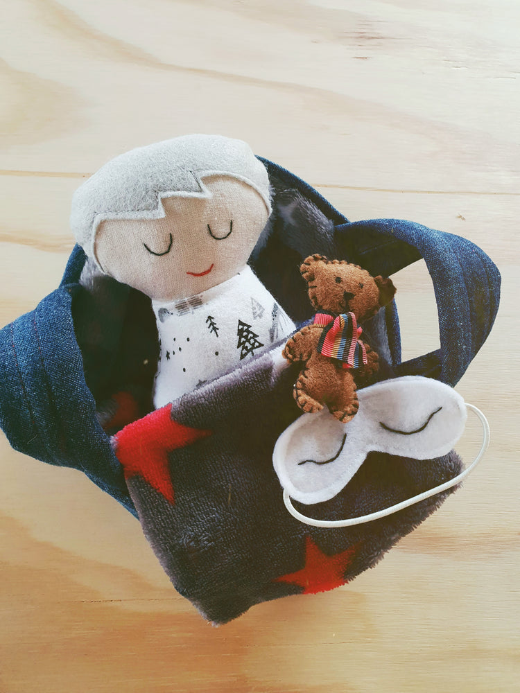 Scandi Boy Baby Doll with Basket