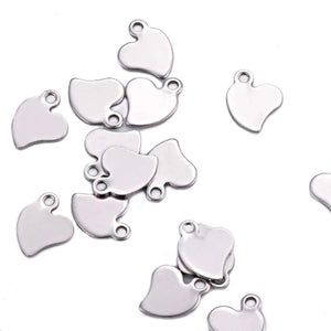 Small Heart Tag - Stainless Steel