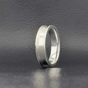 925 Sterling Silver Ring Core Blank - with Ring Box and Engraving