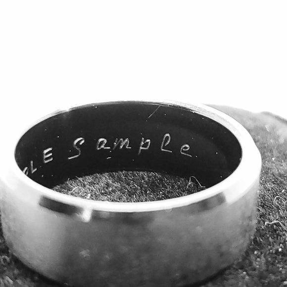 Custom Personalize Inside Ring Engraving Service - Opal And Findings