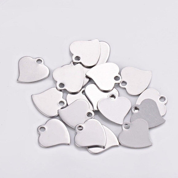 Small Heart Logo Tag - Stainless Steel