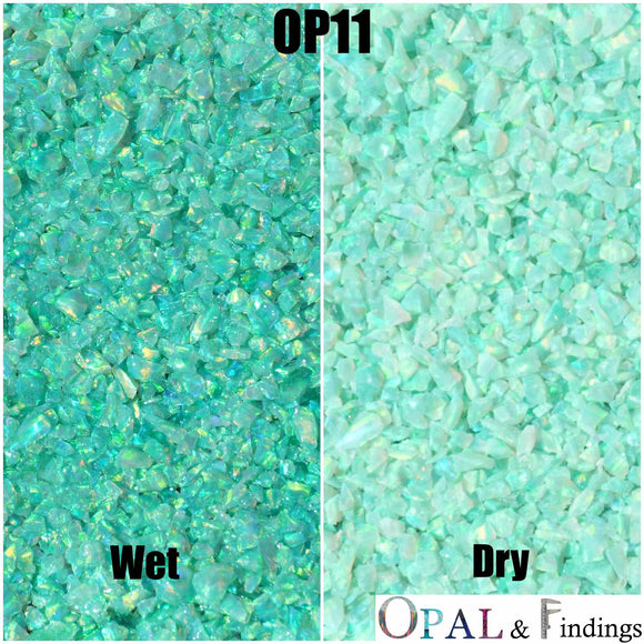 Crushed Opal - OP11 Kiwi - Opal And Findings