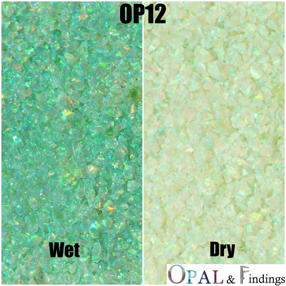 Crushed Opal - OP12 Lime Green - Opal And Findings