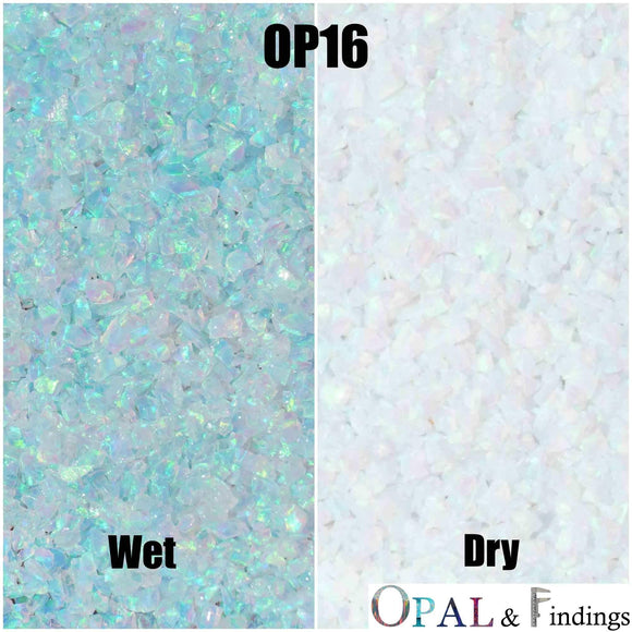 Crushed Opal - OP16 Multi-Green - Opal And Findings