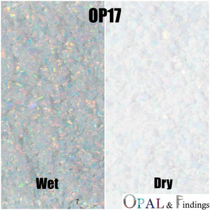 Crushed Opal - OP17 Fire & Snow - Opal And Findings