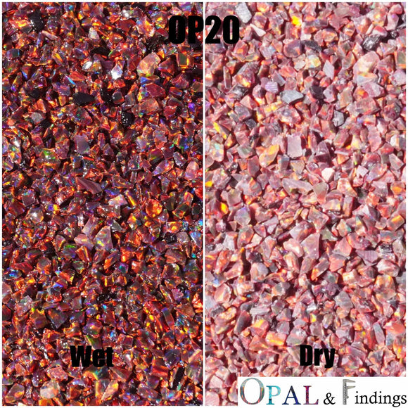 Crushed Opal - OP20 Multi-Cherry - Opal And Findings