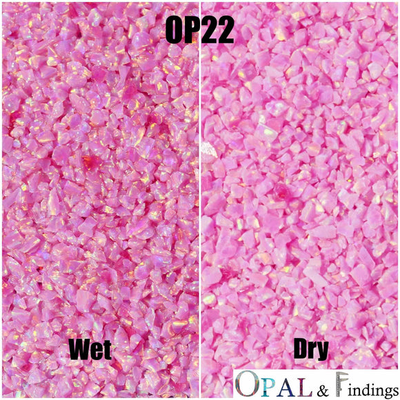 Crushed Opal - OP22 Rose Pink - Opal And Findings