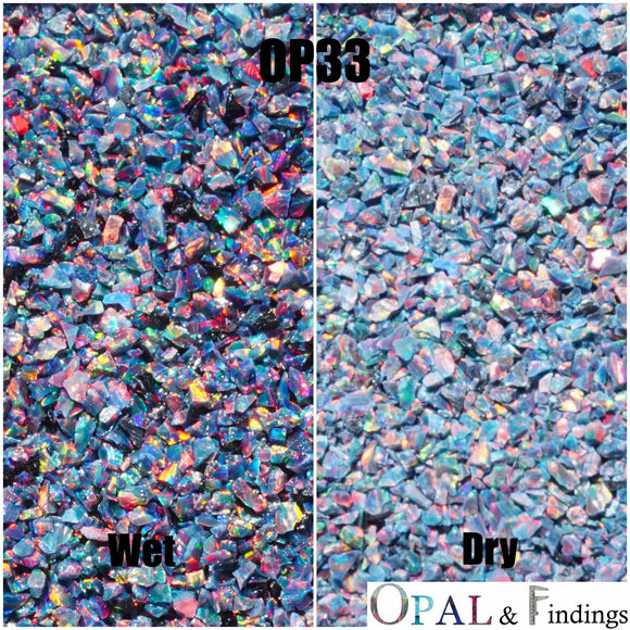 Crushed Opal - OP33 Black Opal 3 - Opal And Findings