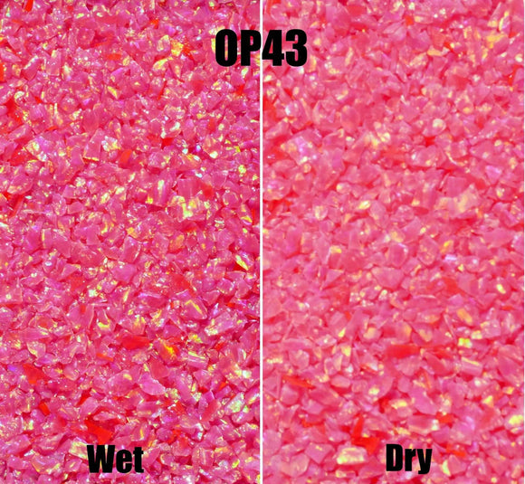 Crushed Opal - OP43 Hot Pink - Opal And Findings