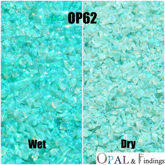 Crushed Opal - OP62 Jungle Green - Opal And Findings