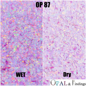 Crushed Opal - OP87 Unicorn Purple - Opal And Findings