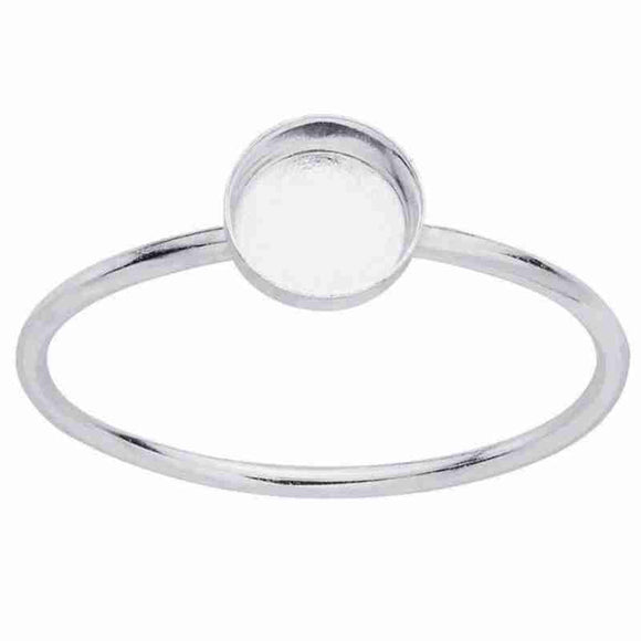Sterling Silver Round Cabochon Ring Mounting - 5mm - Opal And Findings