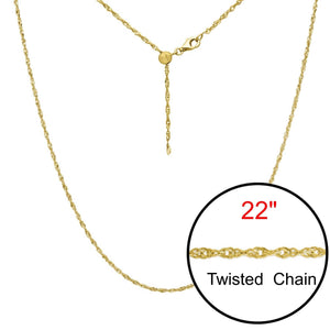 "Twist Adjustable Designer Gold Double Plated Chain Jewelry 22"" - Opal And Findings"