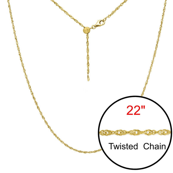 Twist Adjustable Designer Gold Double Plated Chain Jewelry 22