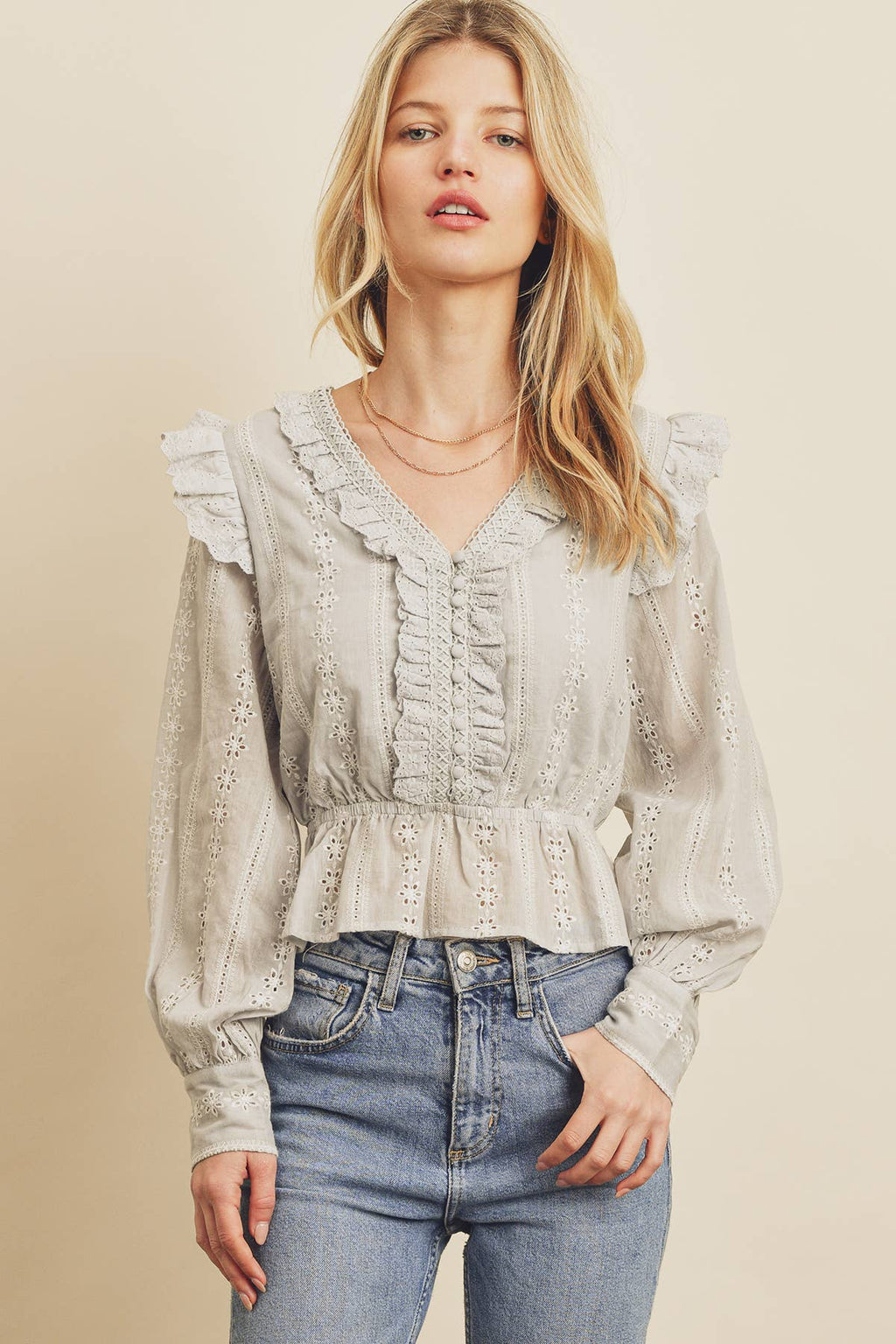 cottagecore ruffled top