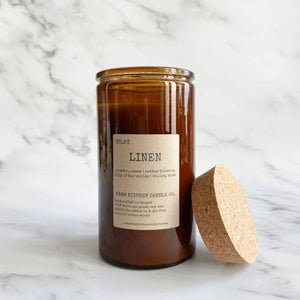 linen soy candle ~ limited edition