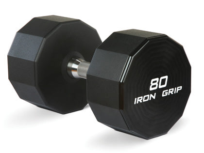 IRON GRIP URETHANE DUMBBELLS-Straight Handles