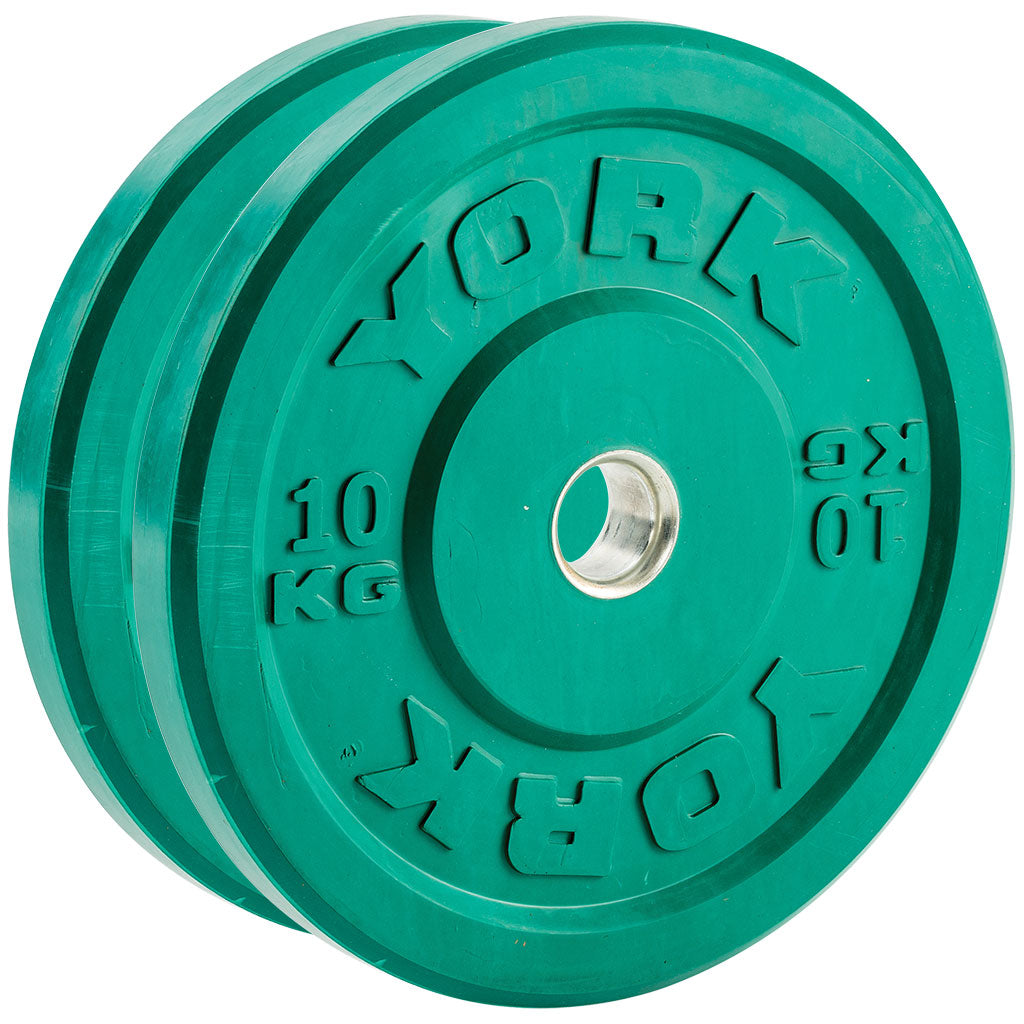 YORK Barbell Economy Coloured Bumper Plates-Pairs