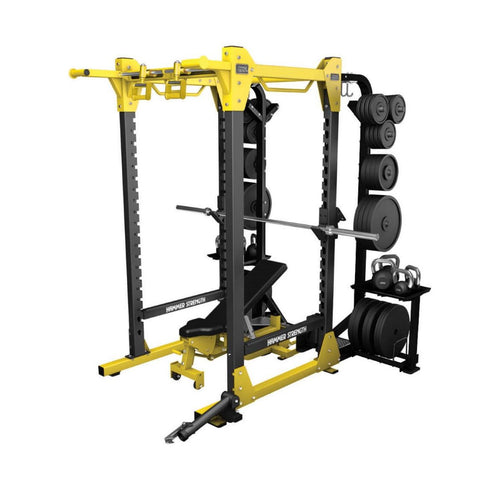 Hammer Strength HD Elite Power Rack with add-ons