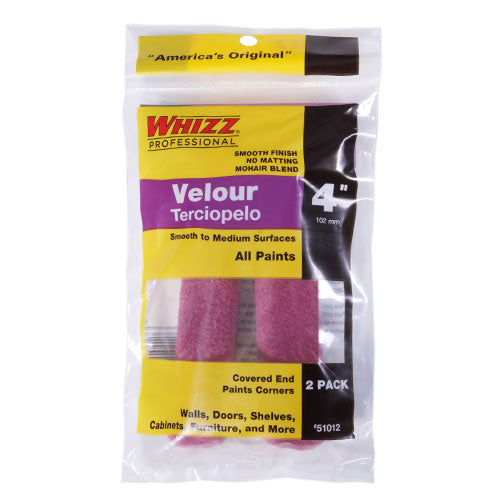 "Whizz 4"" Purple Velour (2PK)"