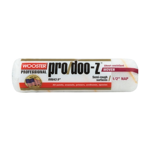 "Wooster 9"" Pro/Doo-Z FTP Woven Fabric Roller Cover 1/2"" Nap"