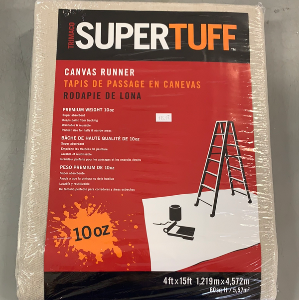 Trimaco SuperTuff™ 4x15ft Canvas Drop Cloth