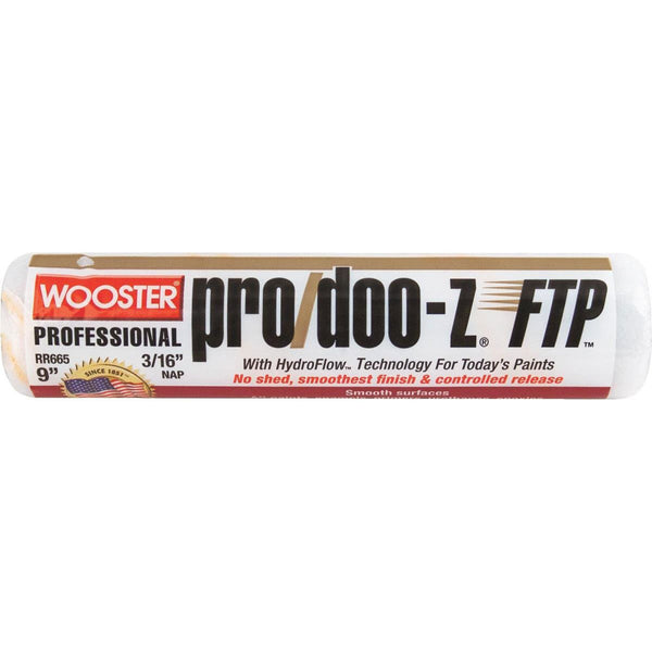 "Wooster 9"" Pro/Doo-Z® FTP® Roller Cover 3/16"" Nap"