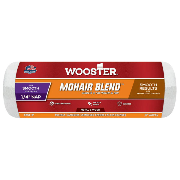 "Wooster 9"" Mohair Blend™ Roller Cover 1/4"" Nap"
