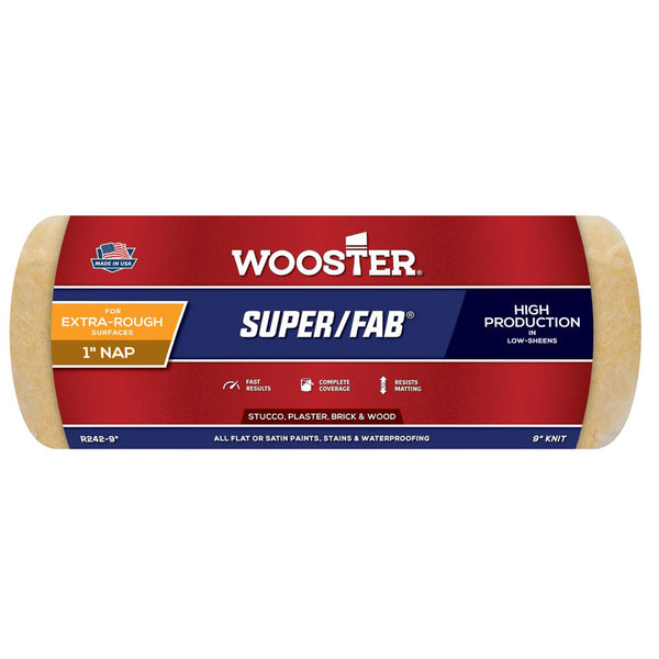 "Wooster 9"" Super Fab® Roller Cover 1"" Nap"