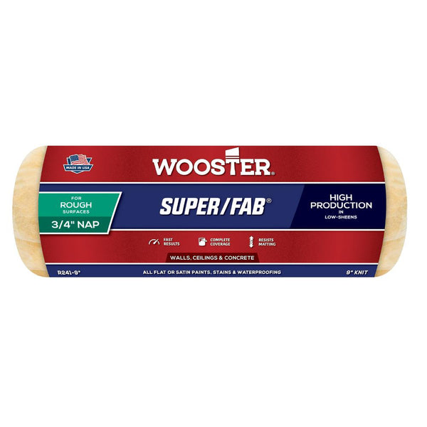 "Wooster 9"" Super/Fab® FTP® Roller Cover 3/4"" Nap"