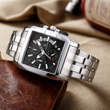 MEGIR Men's Big Dial Luxury Top Brand Quartz Wristwatches Creative Business Stainless Steel Sports Watches Men Relogio Masculino