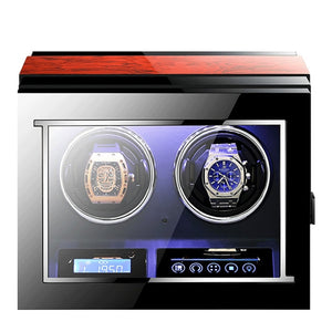 Luxury Automatic watches box with Mabuchi motor LCD touch screen and Remote control Watch winder box