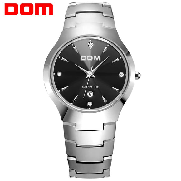 DOM men watch luxury top brand tungsten steel Wrist watch 30m waterproof Business Sapphire Mirror Quartz watches W-698