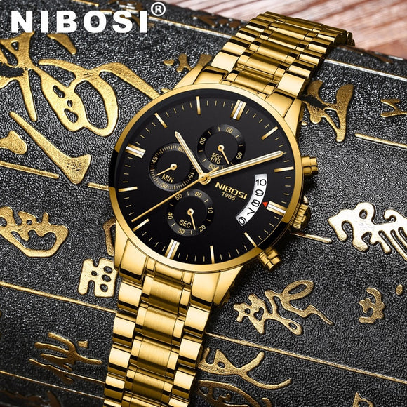 NIBOSI Men Watches Luxury Famous Top Brand Men's Fashion Casual Dress Watch Military Quartz Wristwatches Relogio Masculino Saat