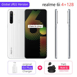 "realme 6i 4GB RAM 128GB ROM Mobile Phone Global Version 5000mAh Battery 6.5"" Helio G80 48MP Camera Play Store NFC Multi Language"