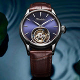 AESOP Men Real Tourbillon Mechanical Mans Wrist Watch Wristwatches Luxury Clock Man Tourbillon Skeleton Watches for Men 2020
