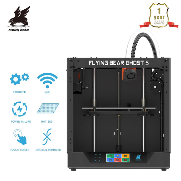 Newest Design Flyingbear-Ghost 5 full metal frame High Precision DIY 3d printer Diy kit glass platform Wifi