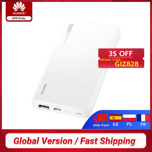 12000mAh HUAWEI 12000 40W SuperCharge Power Bank For  Huawei P30/ P30 pro/mate 30 pro  Honor Magic 2 USB Type-C