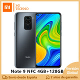 Xiaomi Redmi Note 9 Smartphone(4GB RAM 128GB ROM NFC Mobile Phone free new cheap android Battery 5020mAh) [Global version]