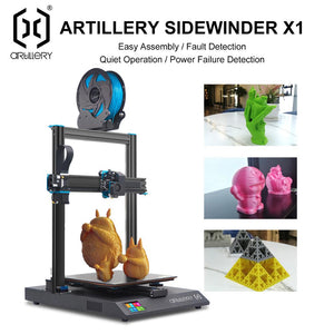 Artillery 3d Printer Sidewinder X1 SW-X1 High Precision Large Plus Size 300*300*400mm 3d printer Dual Z axis TFT Touch Screen