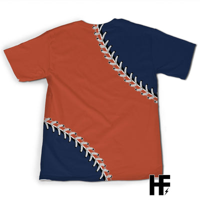 Baseball Fan Orange Dark Blue Version A EZ07 0903 All Over T-Shirt