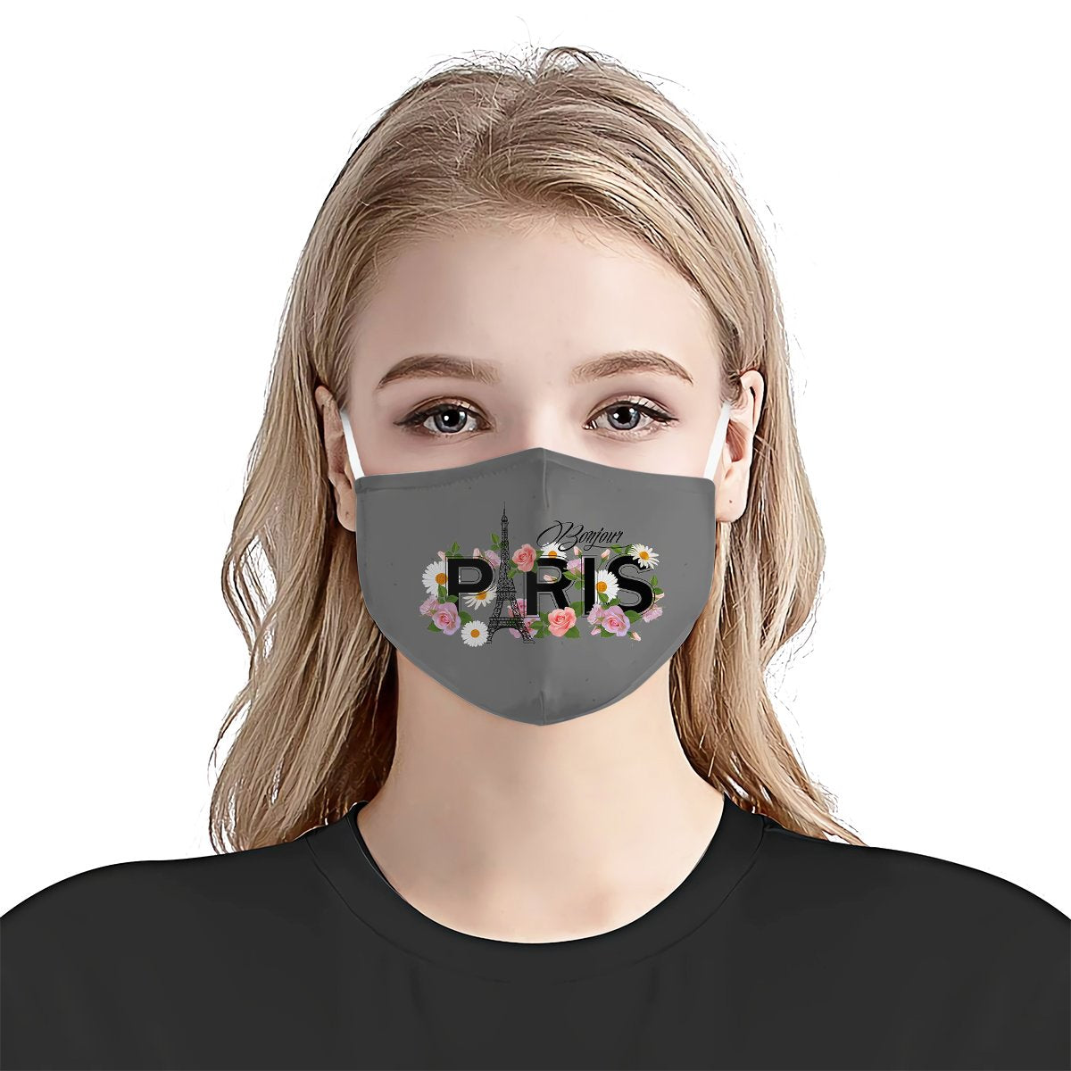 Paris Eiffel Tower Bonjour EZ10 1706 Face Mask 4
