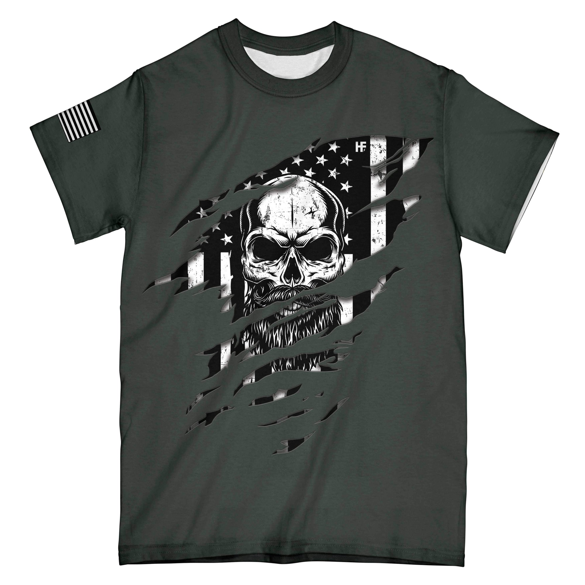 American Grow With Beard Roots EZ16 1501 All Over Print T-Shirt