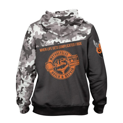 Motorcycle Build & Repair EZ14 1310 All Over Print Hoodie