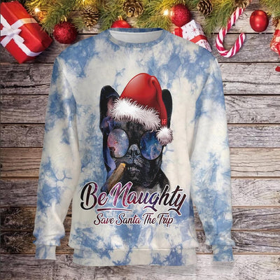 Be Naughty Save Santa The Trip French Bulldogs EZ24 1210 All Over Print Sweatshirt