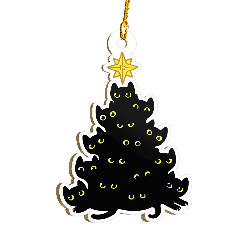 Black Cat Christmas Tree EZ21 1911 Ornament